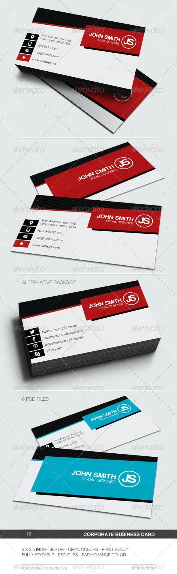 Corporate Business Card - 18 - Corporate Business Cards