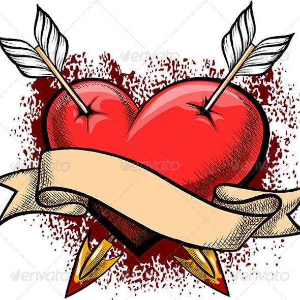 Heart Pierced by Arrows