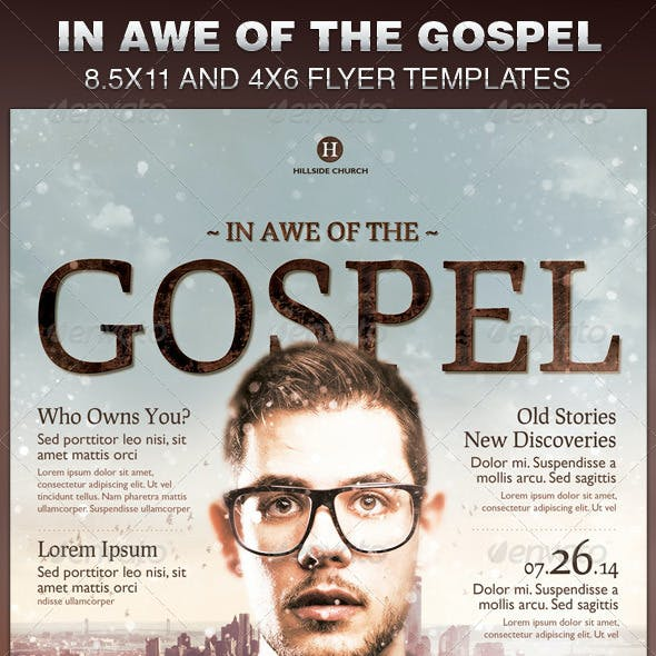 In Awe of the Gospel Church Flyer Template
