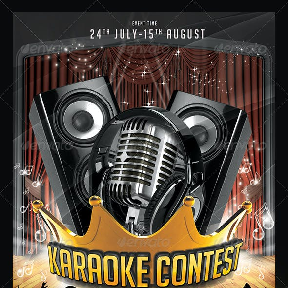 Karaoke Contest Flyer