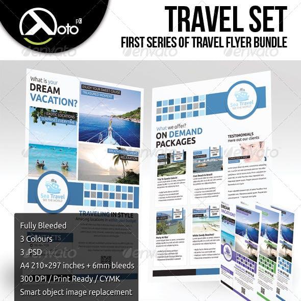 Travel Flyers Set