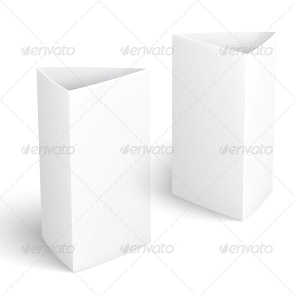 Blank Paper Vertical Triangle Cards. - Man-made Objects Objects