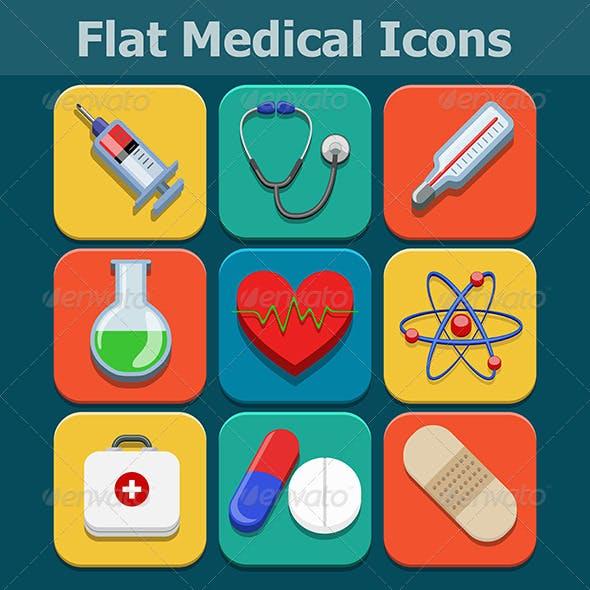 Medical Flat Color Icons Set