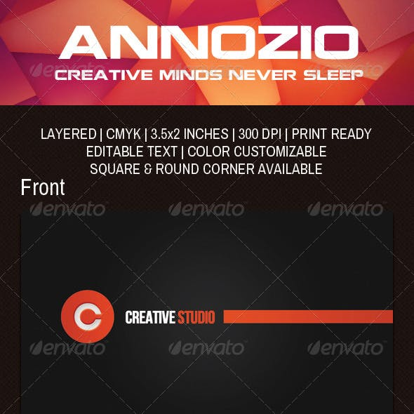 Creative Design Studio Business Card AN0060