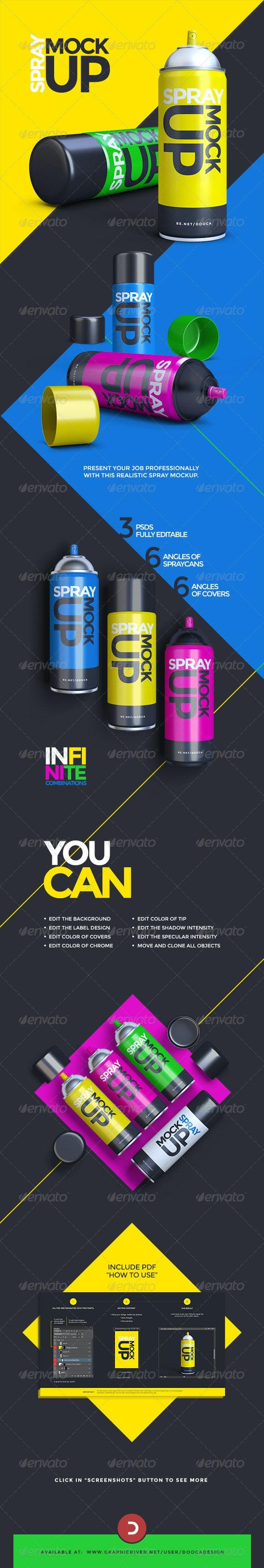 Aerosol Spray Can Mockup - Miscellaneous Product Mock-Ups