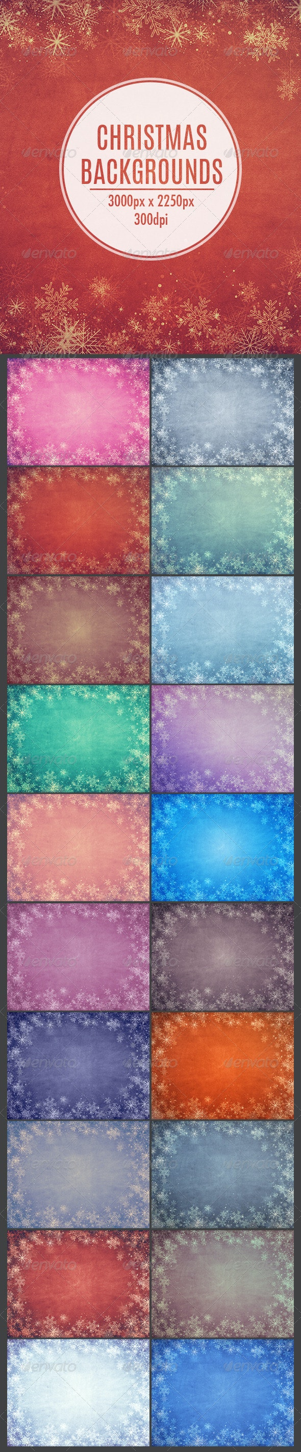 20 Christmas Backgrounds - Backgrounds Graphics