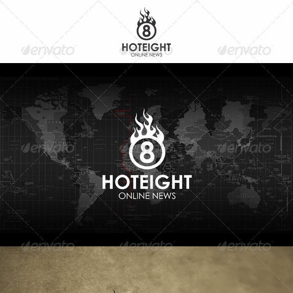 Hot Eight Fireball Logo