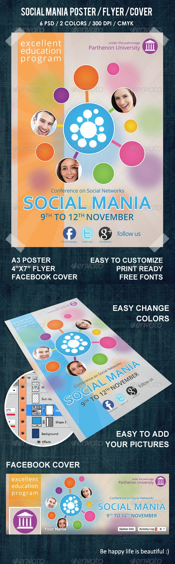 Social Mania Poster / Flyer / Facebook cover - Events Flyers