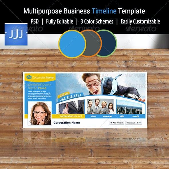 Multipurpose Business Facebook Timeline 5