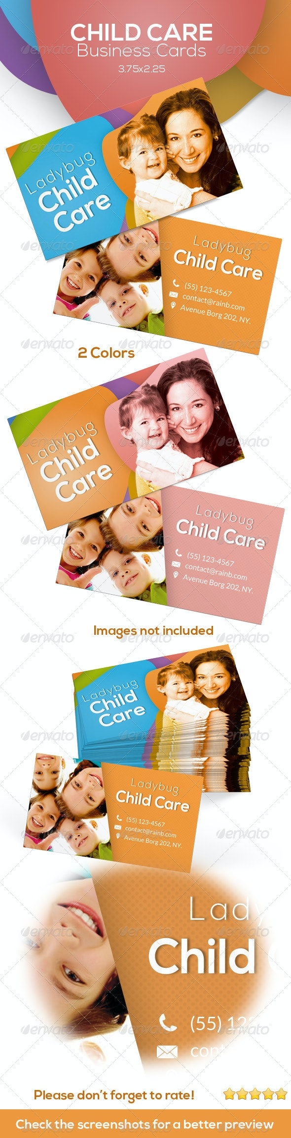 Child Care Business Cards - Industry Specific Business Cards