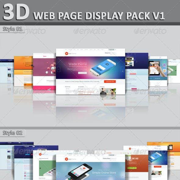 3D Web Page Display Pack V1