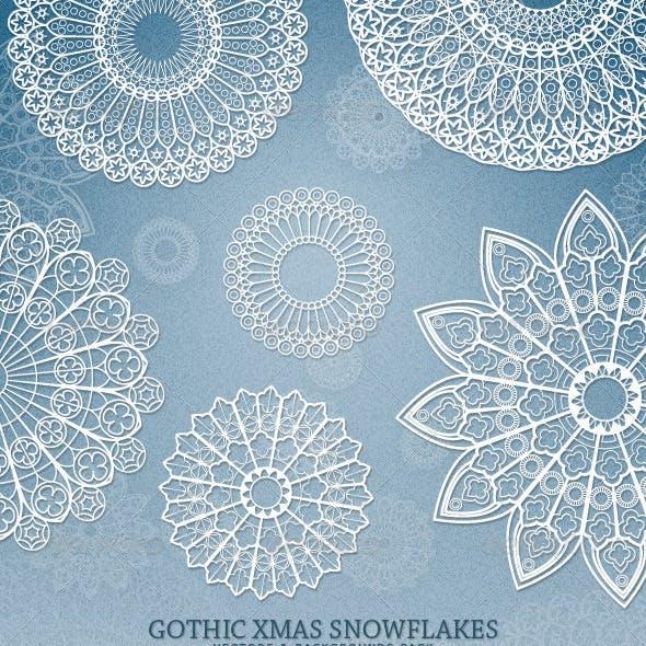 Gothic Xmas Snowflakes