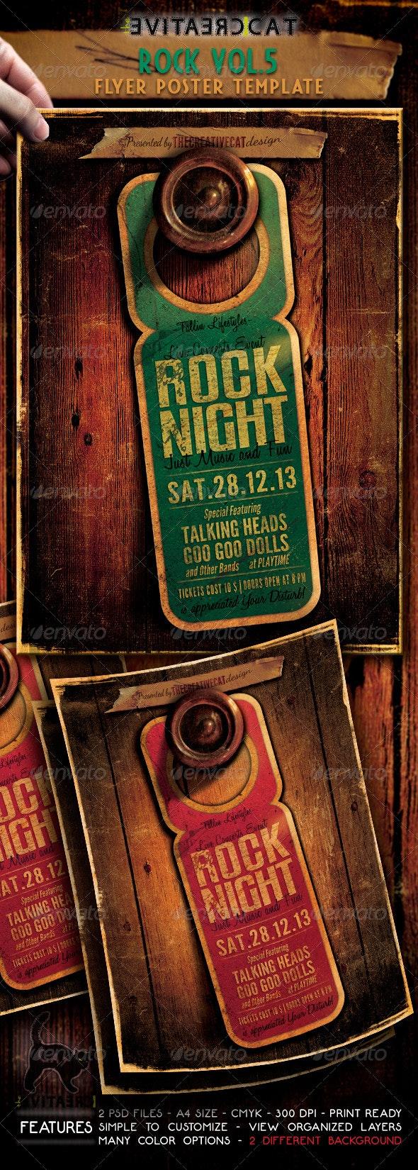 Rock Flyer/Poster Vol. 5 - Events Flyers