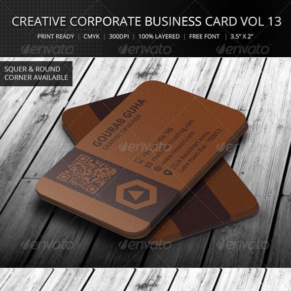 Creative Corporate Business Card Vol 13