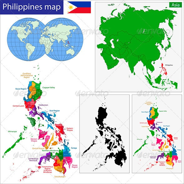 Philippines Map By Volina