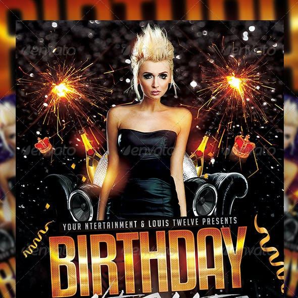 Birthday Nights | Flyer + FB Cover