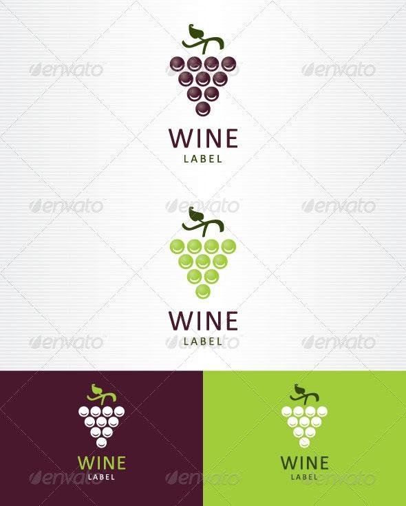 Wine Label - Food Logo Templates