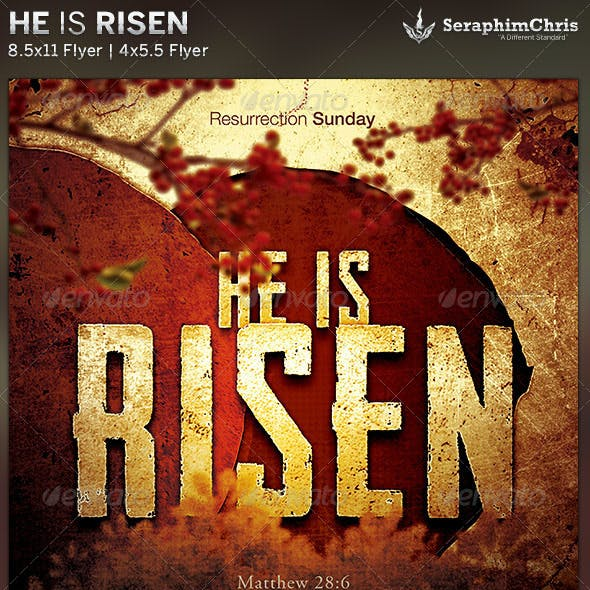 He is Risen: Church Flyer Template