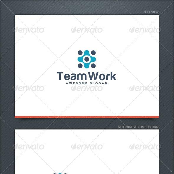 Team Work Logo Template