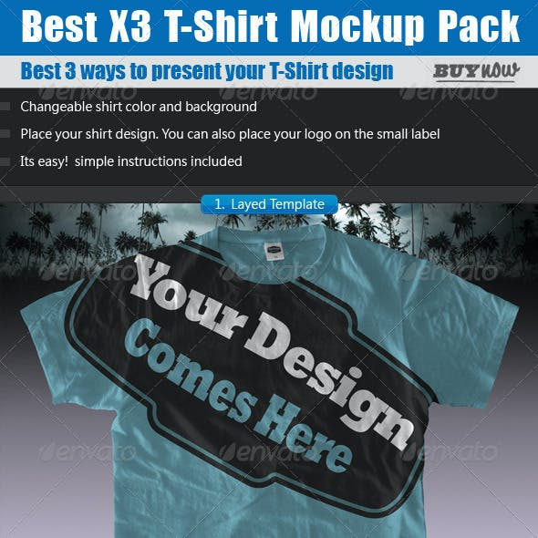 T-Shirt Mock ups Pack - Shirt Template