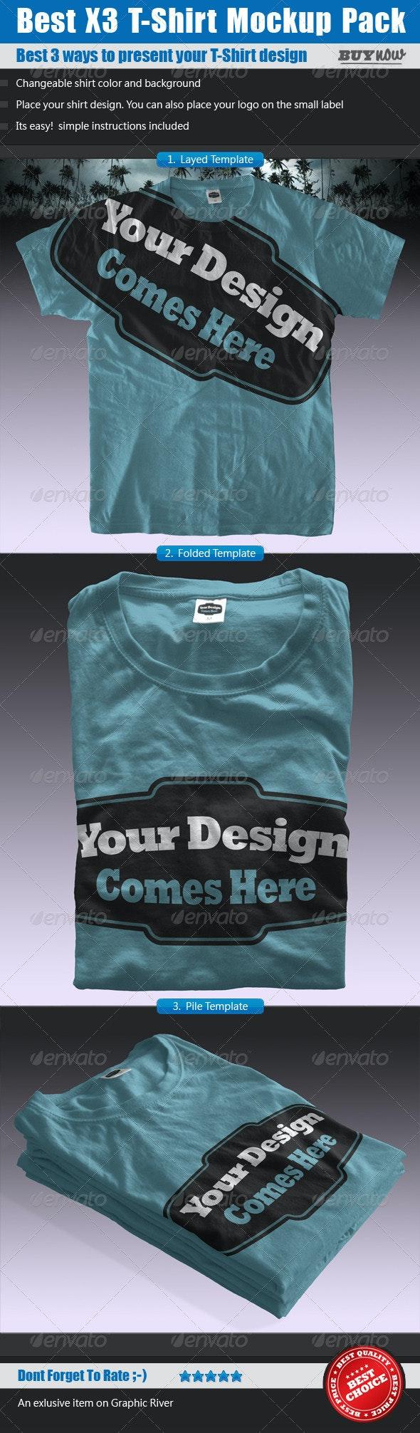 T-Shirt Mock ups Pack - Shirt Template - T-shirts Apparel