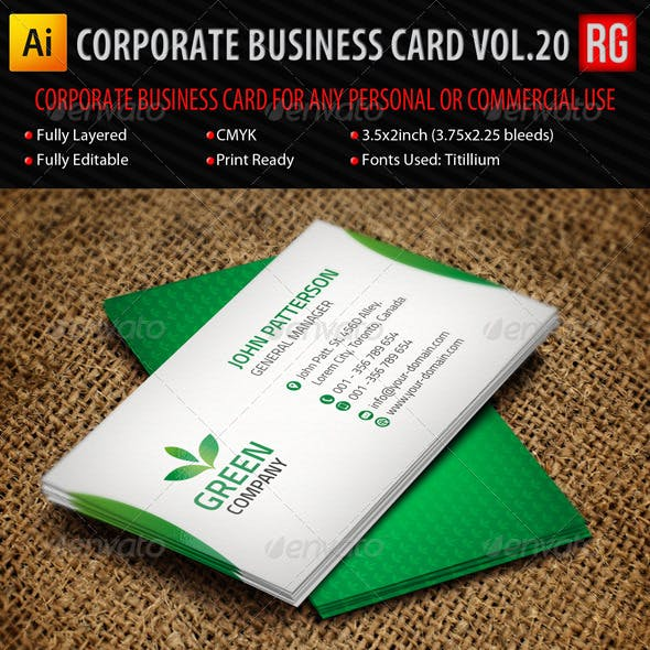 Corporate Business Card Vol.20