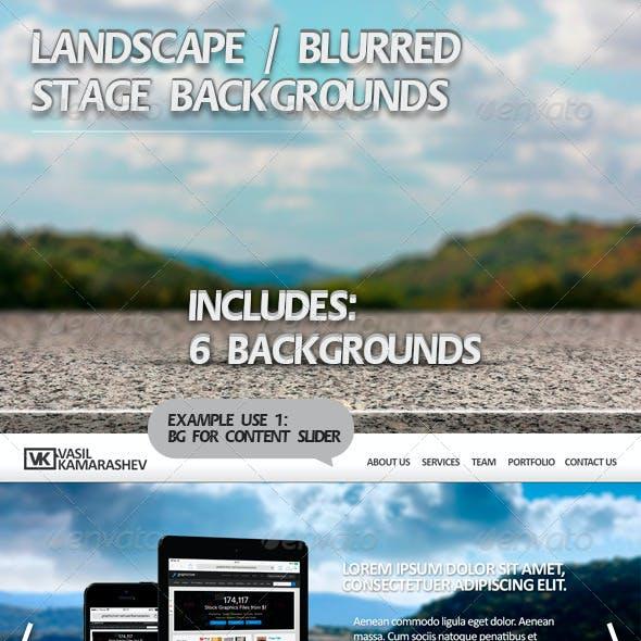 Landscape Blurred Stage Backgrounds