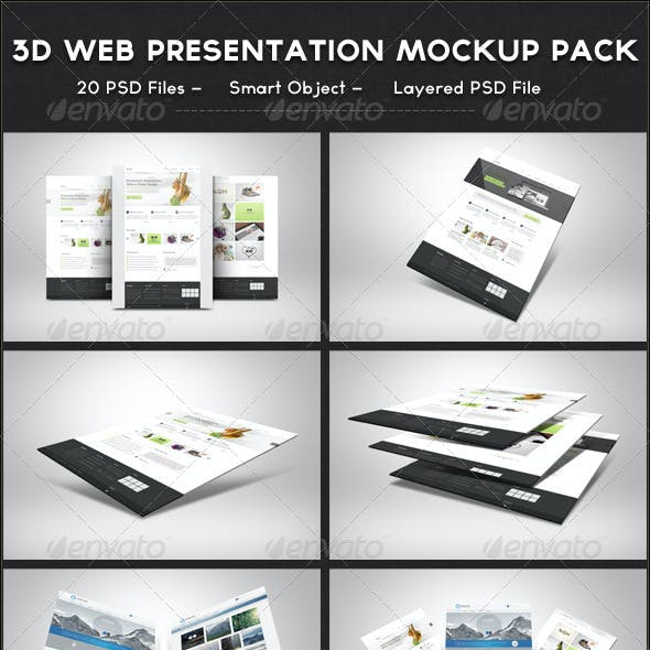 3D Web Presentation Mockup Bundle