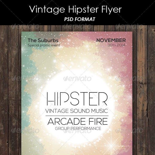 Vintage Hipster Flyer