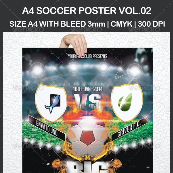 A4 Soccer Poster Vol.02