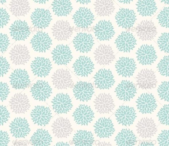 Seamless Floral Geometric Pattern - Patterns Decorative