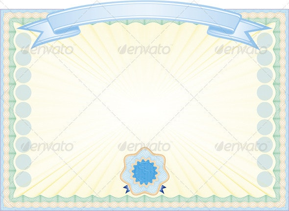 Engraved Certificate - Backgrounds Decorative