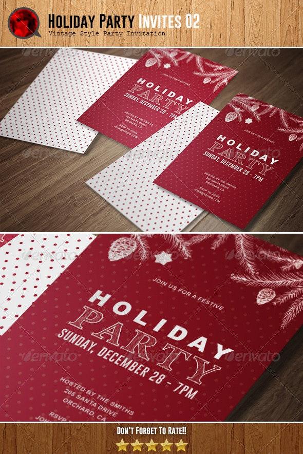 Holiday Party Invitation 02 - Invitations Cards & Invites