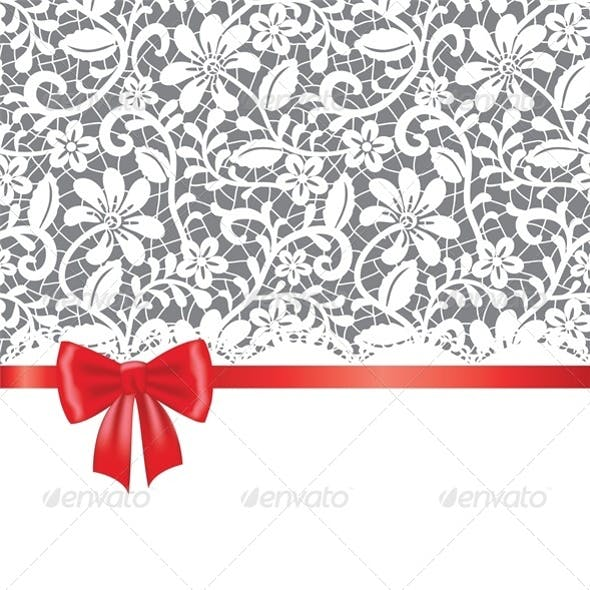 Lace Card with Bow