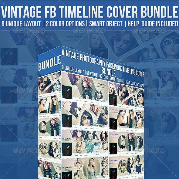 Vintage Photography Facebook Timeline Cover Bundle