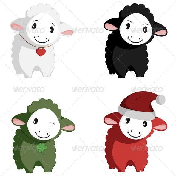 Happy Sheep Mascots