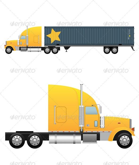 Heavy cargo truck - Man-made Objects Objects