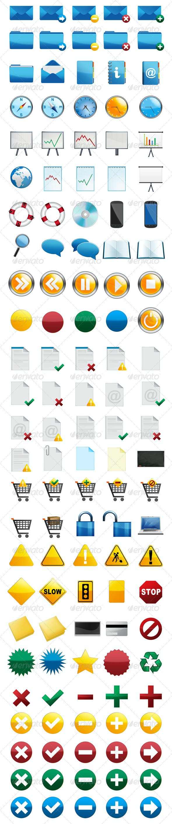 125 Mix of Icons - Web Icons