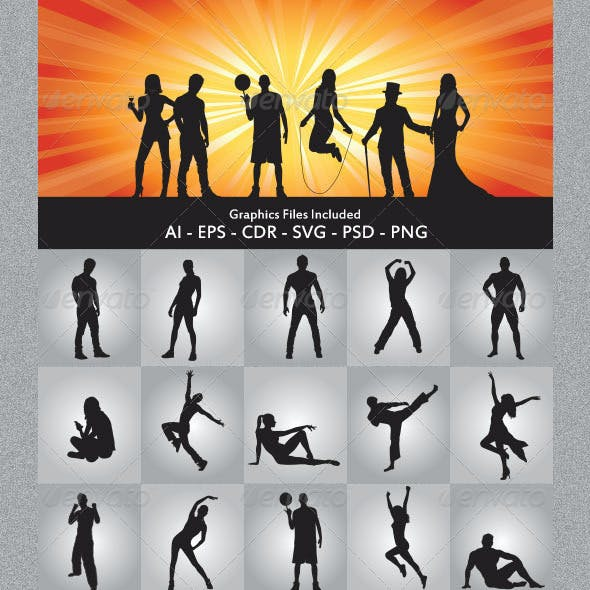 Various People Silhouettes
