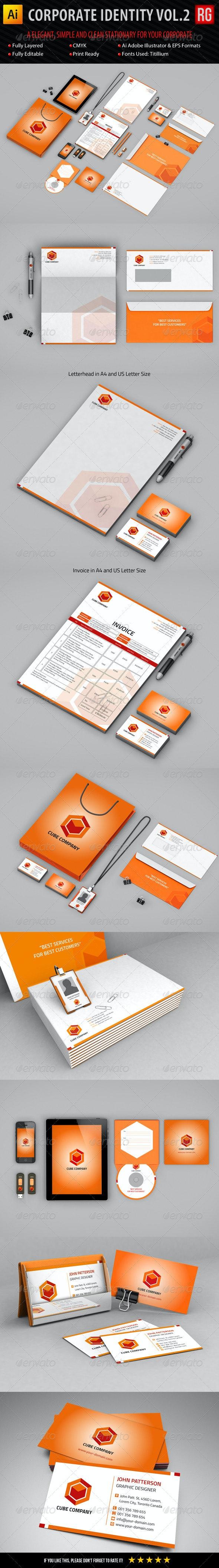 Corporate Identity Vol.2 - Stationery Print Templates