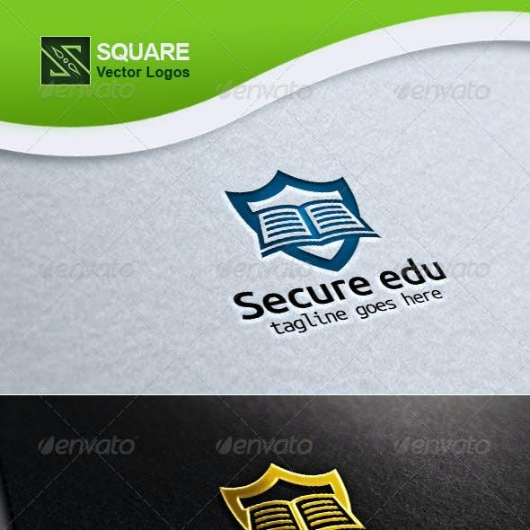 Shield, Book Vector Logo Template
