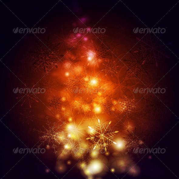 Abstract Vector Shiny Christmas Background