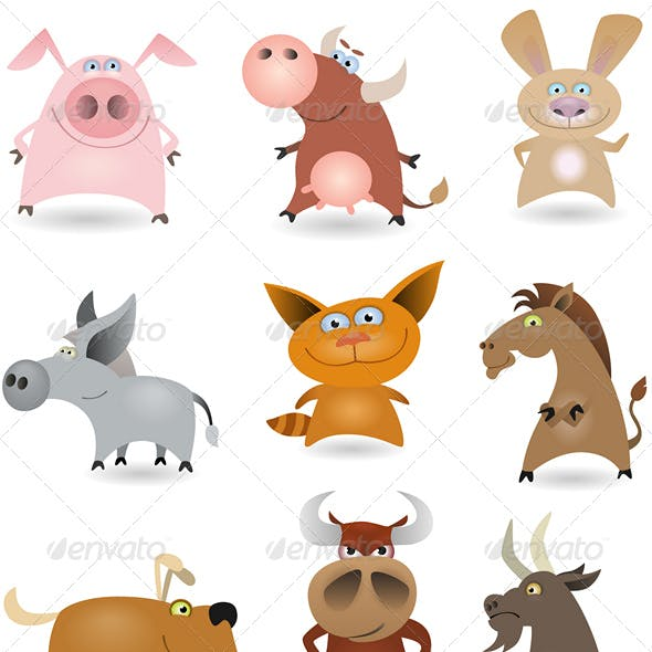 Vector animals set #1
