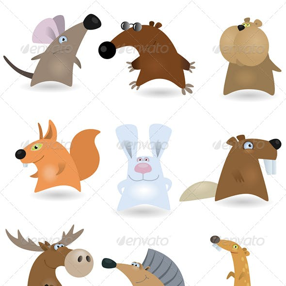 Vector animals set #2