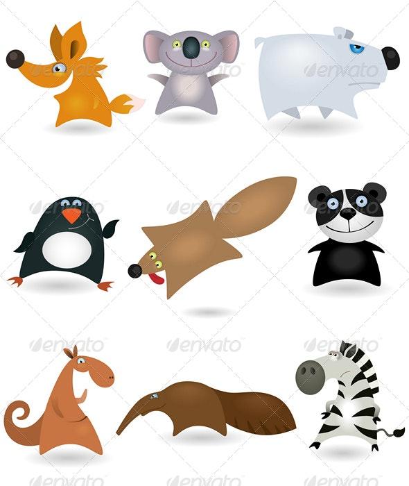 Vector animals set #4 - Animals Characters