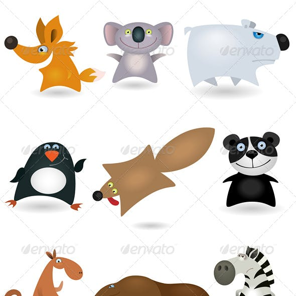 Vector animals set #4