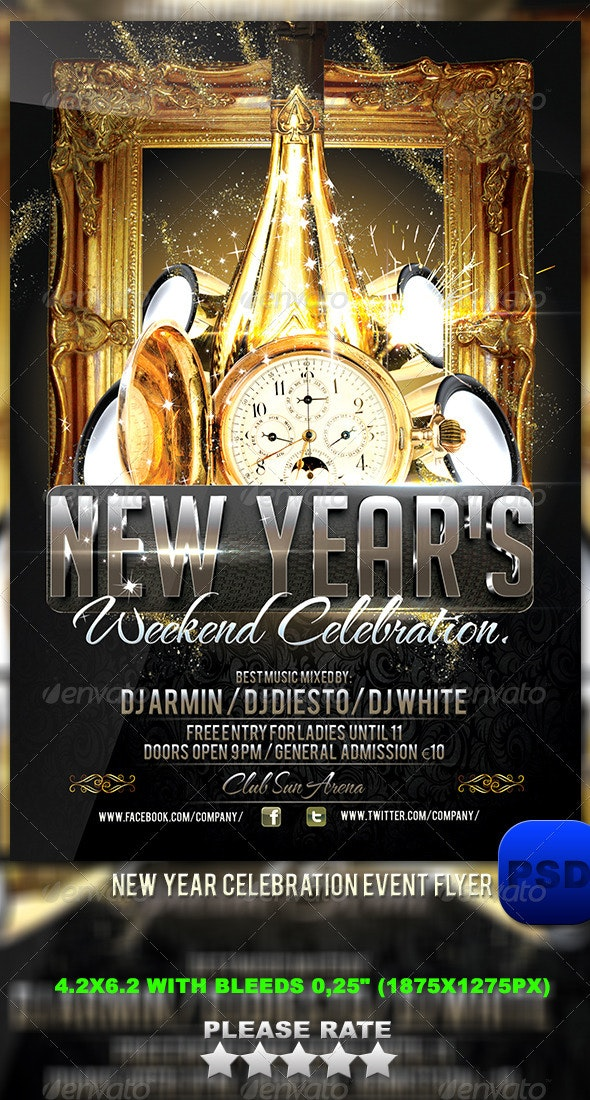 New Year Celebration Event Flyer - Events Flyers