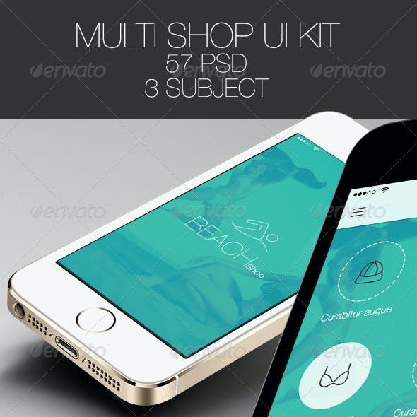 Multi Shop App for Mobile