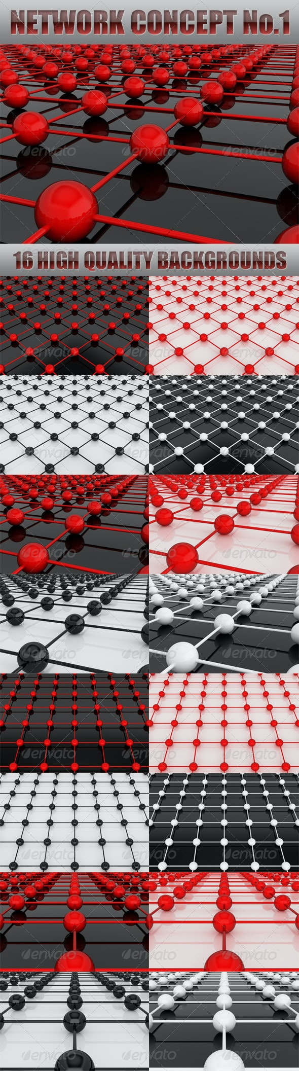 Network Concept No.1 - 3D Backgrounds