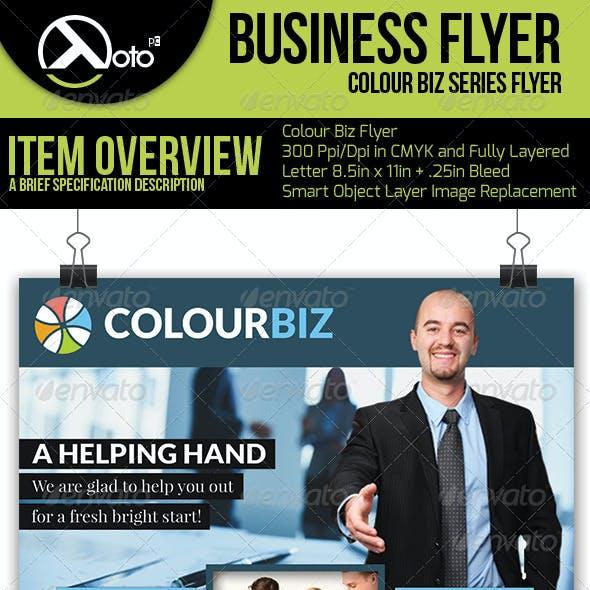 Colour Biz Recruiting Business Flyers